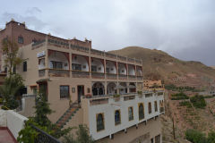 A hotel near the Dades Gorge in the Atlas near Boumalne, Morocco