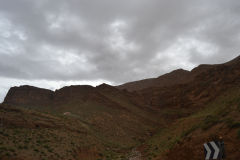 Landscape in the Atlas near the Dades Gorge near Boumalne, Morocco
