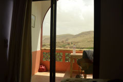 View from a hotel room around Dades Gorge near Boumalne, Morocco