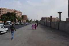 A street scene in Marrakech, Morocco
