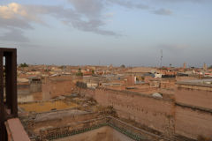 View over the roofs of the median from a riad in Marrakech, Morocco