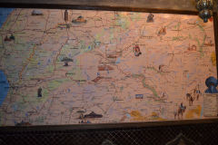 An excellent map of southern Morocco in a riad in Marrakech