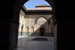 Inside the Ben Youssef Madrasa in Marrakech, Morocco