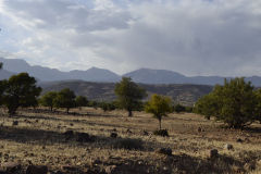 Landscape at the Tizi-n-Test pass between Marrakech and Taroudannt in Morocco