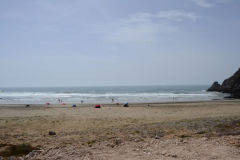 Beach of Mirleft between Agadir and Sidi Ifni in Morocco