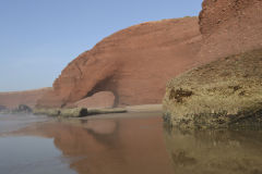 Second, 2016 collapsed arch at the beach of Legzira near Sidi Ifni in Morocco