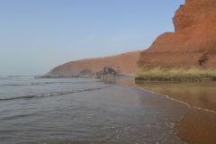 At the beach of Legzira near Sidi Ifni in Morocco