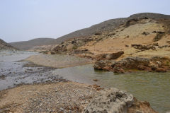 Landscape south of Sidi Ifni, Morocco in direction of Foum Assaka
