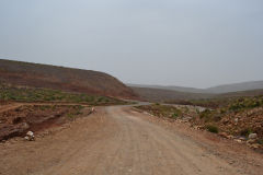 Landscape south of Sidi Ifni, Morocco in direction of Foum Assaka