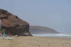 At the beach of Legzira near Sidi Ifni, Morocco