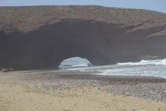 First arch at the beach of Legzira near Sidi Ifni, Morocco