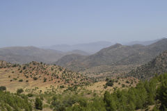 Landscape at the road between Sidi Ifni and Tafraoute, Morocco