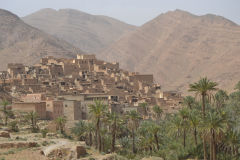 A city east of Tafraoute in the Anti Atlas, Morocco
