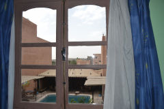 A hotel room in Ouarzazate in the Draa Valley in Morocco