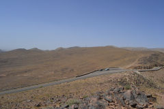 Landscape on the road between Ouarzazate and Mhamid in Morocco