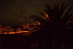 Stars on top of the roof on Kasbah Draa near Mhamid, Morocco