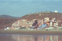 Hotels at the beach of Legzira, Morocco