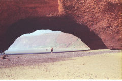 The first arch at Legzira Beach, Morocco