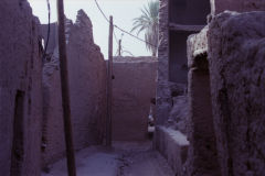 Inside a old city at the Wadi Draa near Mhamid, Morocco