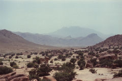 Landscape east of Tafraoute in the Anti Atlas, Morocco