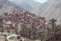 Clay buildings east of Tafraoute in the Anti Atlas, Morocco