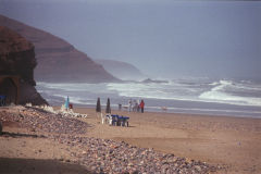 At the beach of Legzira near Sidi Ifni, Morocco