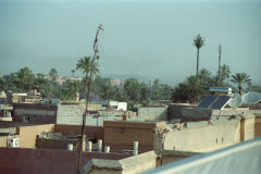 Over the roofs of Marrakesh, Morocco