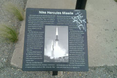 Nike Hercules Missile sign at a rest stop near White Sands Missile Range, New Mexico, USA