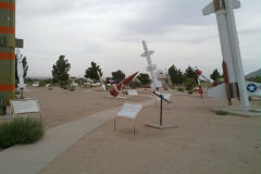 Different rockets at the White Sands Missile Range, New Mexico, USA