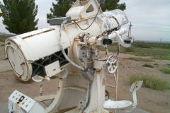 An old telescope to follow rocket lauches at the White Sands Missile Range, New Mexico, USA