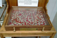 A box with Trinitite at the White Sands Missile Range, New Mexico, USA