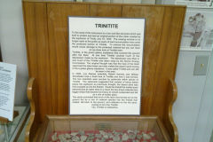 Trinitite at the White Sands Missile Range, New Mexico, USA