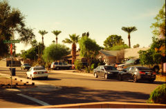 Street scene in Phoenix, Arizona