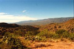 Landscape in the Sonora Desert near Mexico in Arizona, USA