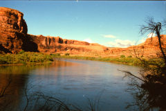 Green river near Moab in Utah, USA