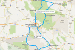 Route trhough Arizona, USA