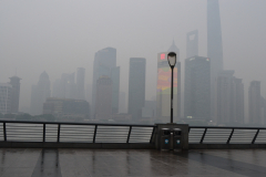 View to Podung at The Bund in Shanghai, China