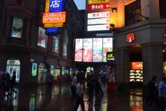 Street scene in the center of Shanghai, China
