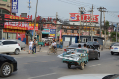 Street scene in an older suburb of Beijing, China