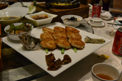 Real chinese food in a restaurant in Suzhou, China