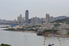 The city in Dalian, China