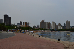 View from the beach in Dalian, China