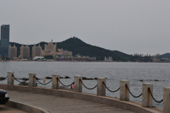 View back to the city in Dalian, China