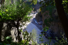 Views inside the Gole Alcantara Botanical and Geological Park, Sicily, Italy