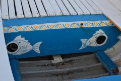 Nice boat decorations in Aci Trezza, Sicily, Italy