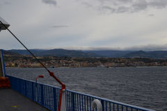 Sicily seen from the ferry, Italy