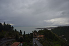 A view over Villagonia on the way up to Taormina, Sicily, Italy
