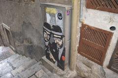Street art in Taormina, Sicily, Italy