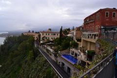 A street scene in Taormina, Sicily, Italy