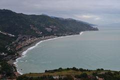 View of Letojanni from Taormina, Sicily, Italy